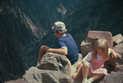 Pulpit Rock View Black Canyon Of The Gunnison,  Colorado Vacation.  August, 1965