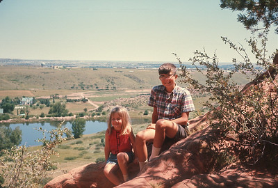 Looking East From Inside Garden Of The Gods,  Colorado Vacation.  August, 1965