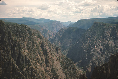 Tomichi Point, Black Canyon Of The Gunnison,  Colorado Vacation.  August, 1965