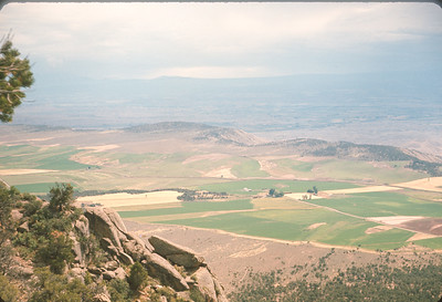 Farm Land In East End Of Uncompahgre Valley,  Colorado Vacation.  August, 1965