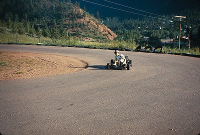 Wayne At The Go Cart Track. Colorado Vacation.  August, 1965