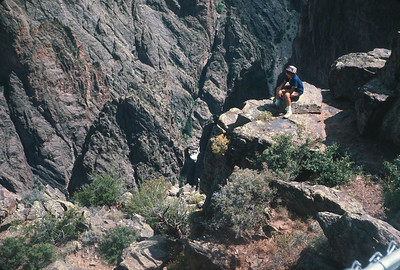 Wayne At Black Canyon Of The Gunnison,  Colorado Vacation.  August, 1965