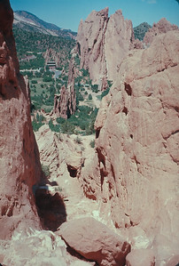 Garden Of The Gods,  Colorado Vacation.  August, 1965