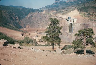 Blue Mesa Dam Under Construction,  Colorado Vacation.  August, 1965