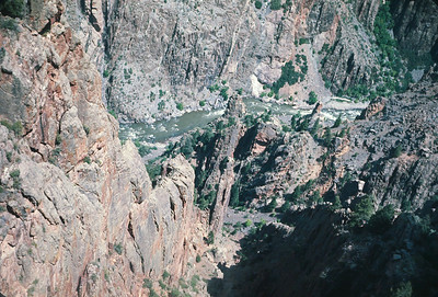 Gunnison Point Black Canyon Of The Gunnison,  Colorado Vacation.  August, 1965