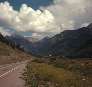 Telluride, Colorado In Distance, August 19, 1970