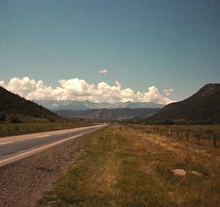 Scene Near Ridgeway, Colorado With Filter,  August 19, 1970