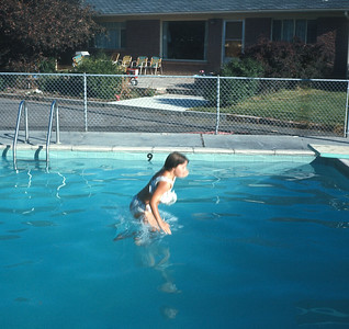 Theresa Swimming on Vacation,  August 1970
