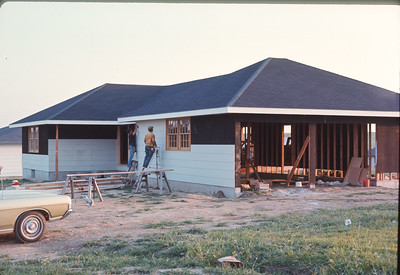 Building Chris And Charlie Ray's Home In Red Rocks, Platte City, MO, August, 1973