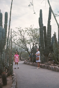 Theresa And Dorothy With Cactus, Pheonix, AZ, August 1971