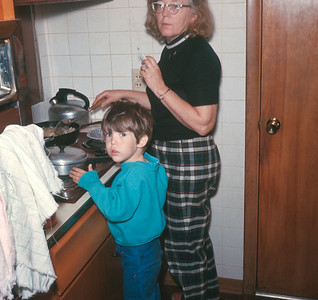 Dorothy And Billy Cooking, Platte City, MO, 1971