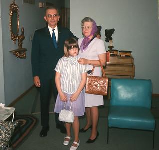 Bill, Dorothy And Theresa, Platte City, MO, 1971