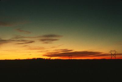 Sunset, Harveyville, KS, November, 1973