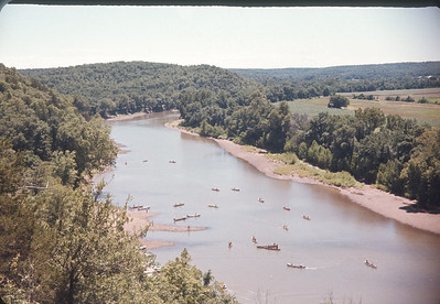 Boy Scout Canoes on Osage River, Osceola, MO  July 1, 1963