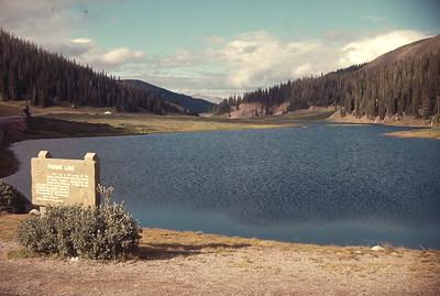 Poudre Lake, Colorado Rocky Mountain National Park.  August 17, 1963