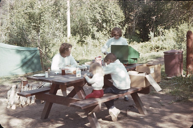Camp Site At Cold Springs Campground, Arapaho National Park, Colorado,  August 17, 1963