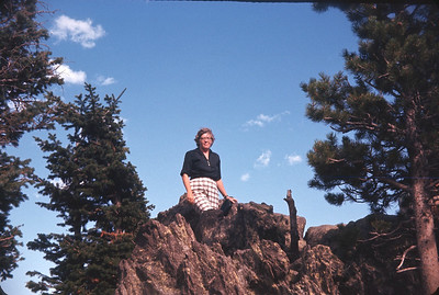Dorothy In Rocky Mountain National Park, Colorado, August 14, 1963