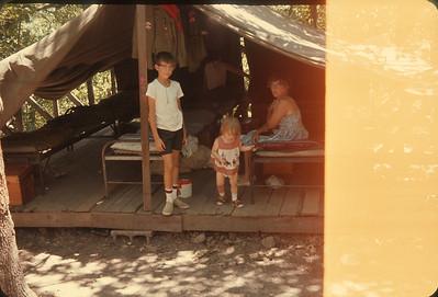 Wayne's Tent At Camp.  July 1, 1963, Osceola, MO