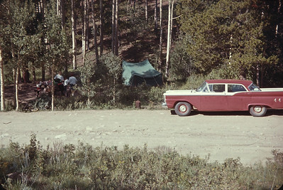 Camping In Cold Springs Camp, Arapaho National Park.  August 14, 1963