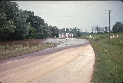 Platte River Flood. Platte City, MO.  July, 1965