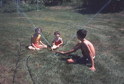 Wayne, Theresa and Carey Sue, Platte City, MO,  July 1967