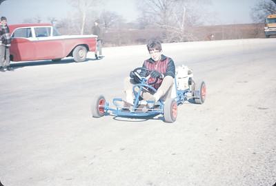 Wayne Running His Go-Kart, March 1966