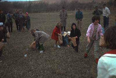 Harveyville Easter Egg Hunt, Harveyville, KS, March 1967