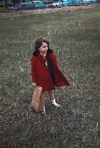 Theresa at Harveyville Easter Egg Hunt, Harveyville, KS, March 1967