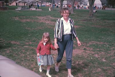 Theresa And Mom.  Platte City, MO. May, 1965