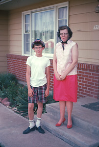 Wayne and Dorothy.  Platte City, MO. May, 1965