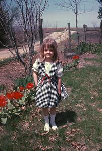 Theresa At The Farm.  Kansas. May, 1965