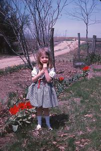 Theresa At The Farm.  Harveyville, Kansas.  May, 1965