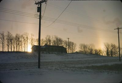 """Snow Bow"", Platte City, MO, January,1961"