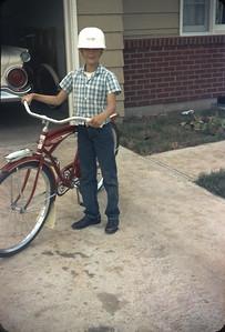 Wayne with Bike, Platte City, MO. June, 1961
