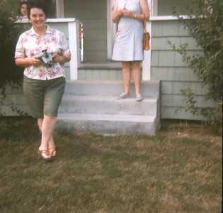 Jo Raper And Dorothy Sell In Background, MI, 1972