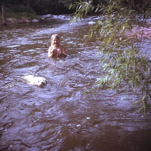 Laurie and Phoenix ... she can swim!