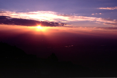 Sunset from top of Sandia