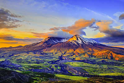 """Saint Helens Daybreak,"" Mount St Helens 35th Anniversary Sunrise, Mt St Helens National Volcanic Monument"