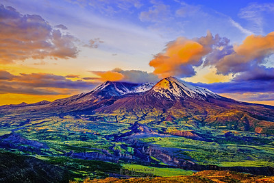 """Lady of Fire,"" Mount St Helens 35th Anniversary Sunrise, Mt St Helens National Volcanic Monument"