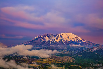 """Last Light over Loowit,"" Mount St Helens 35th Anniversary Twilight, Mt St Helens National Volcanic Monument"
