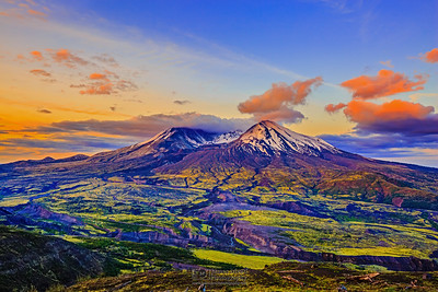 """Good Morning Loowit,"" Mount St Helens 35th Anniversary Dawn, Mt St Helens National Volcanic Monument"