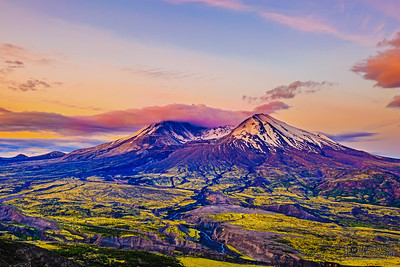 """Dawn's Awakening,"" Mount St Helens 35th Anniversary Dawn, Mt St Helens National Volcanic Monument"