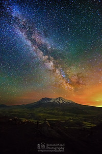 """From the Ashes,"" 35th Anniversary: The Milky Way over Mount St Helens, Mt St Helens National Volcanic Monument, Washington"