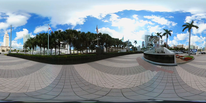 360vr Downtown Miami Port Miami 4k