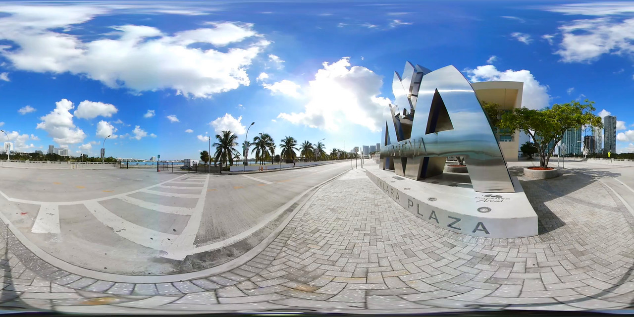 360vr American Airlines Arena backside entrance