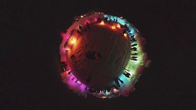 crystal ball ice castle