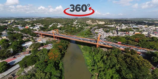 Puente Hermanos Patiño / Río Yaque del Norte, Santiago de los Caballeros, República Dominicana. 28 de Julio, 2020.