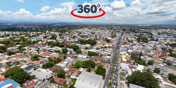Área Monumental de Santiago de los Caballeros. Av las Carreras con Av Francia. 22 de Julio, 2020.