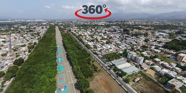 Parque Central, Santiago de los Caballeros. 29 de Julio, 2020.