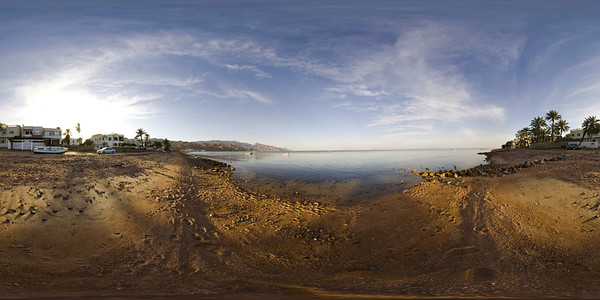 Dahab Sunset Beach Pano